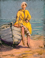 GIRL IN A YELLOW RAINCOAT