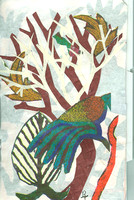 39. COLLAGE EARLY REPRESENTATIONAL BIRD