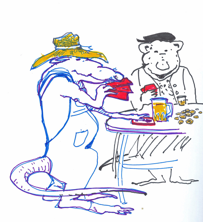 5. FROGGY WENT A COURTING NOT WITH OUT UNCLE RAT'S CONSENT  005