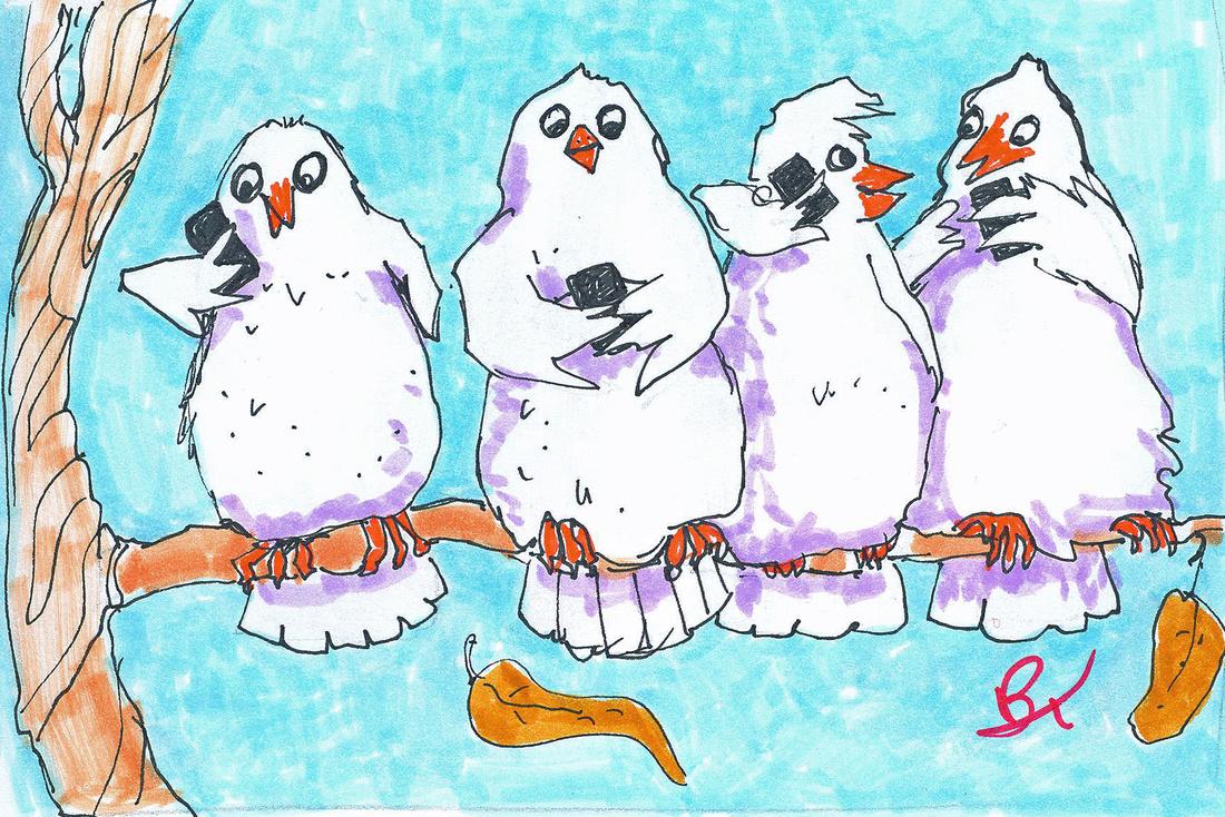 4. FOUR CALLING BIRDS