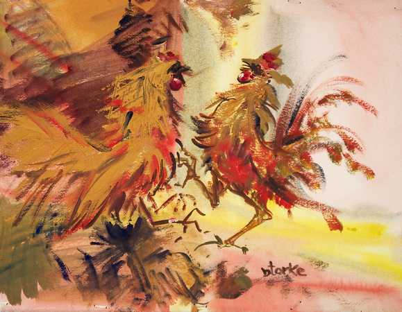 rooster fight_18x24_1